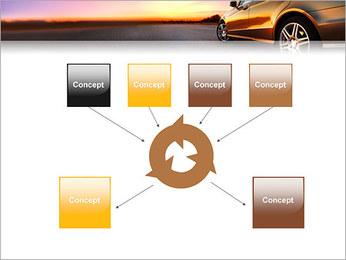 Voiture sur la route Modèles des présentations  PowerPoint - Diapositives 10