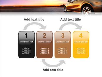Voiture sur la route Modèles des présentations  PowerPoint - Diapositives 11