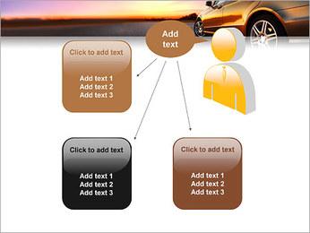 Voiture sur la route Modèles des présentations  PowerPoint - Diapositives 12