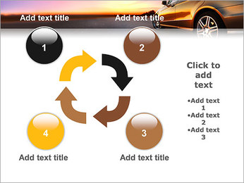 Voiture sur la route Modèles des présentations  PowerPoint - Diapositives 14