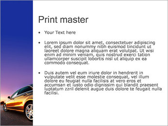 Voiture sur la route Modèles des présentations  PowerPoint - Diapositives 24