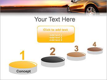 Voiture sur la route Modèles des présentations  PowerPoint - Diapositives 7