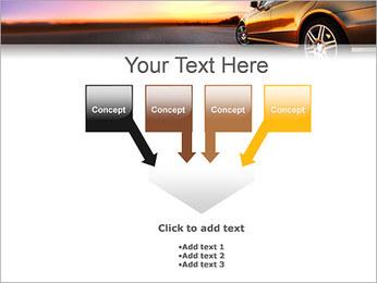 Voiture sur la route Modèles des présentations  PowerPoint - Diapositives 8