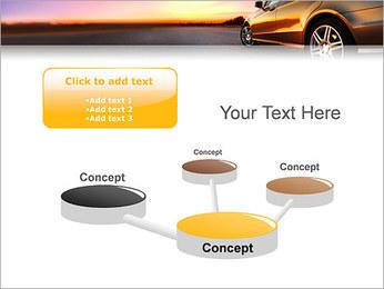 Voiture sur la route Modèles des présentations  PowerPoint - Diapositives 9