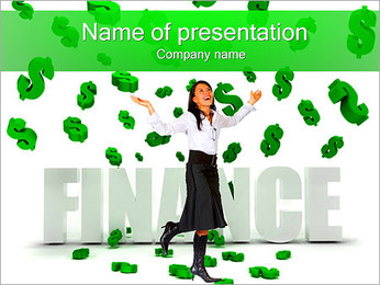 Financial Success PowerPoint Template - Slide 1