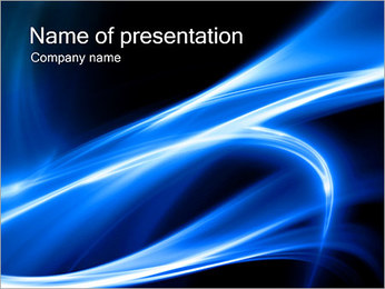 Abstraction Blue PowerPoint Template