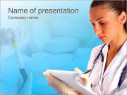 医療ラボ PowerPointプレゼンテーションのテンプレート