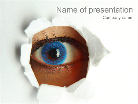 Eye powerpoint template smiletemplates eye and paper powerpoint template toneelgroepblik Choice Image
