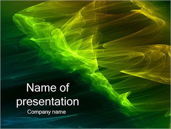 Green Abstraction PowerPoint Template