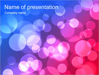 Pink Abstraction PowerPoint Template