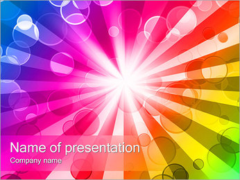 Bright Abstraction PowerPoint Template