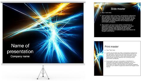 Abstraction foncé Modèles des présentations  PowerPoint