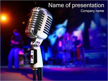 Loud Microphone PowerPoint Template