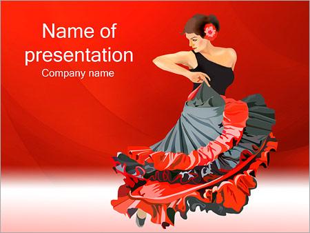 Dance powerpoint template smiletemplates woman dance powerpoint template toneelgroepblik Gallery