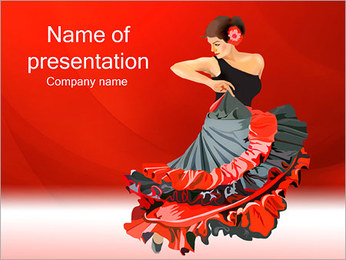 Woman Dance PowerPoint Template