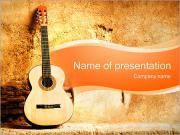 Electro kytara PowerPoint šablony