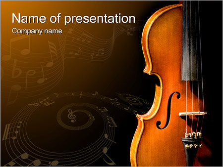 Violin Music Powerpoint Template Backgrounds Google Slides Id