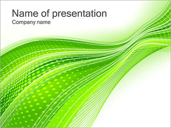 Abstract Green Lines I pattern delle presentazioni del PowerPoint