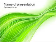 Abstract Green Lines PowerPoint Templates