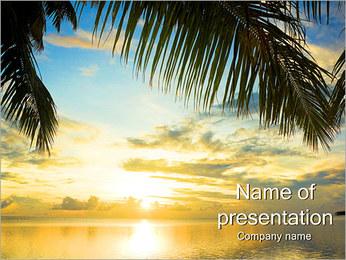 Plaża w tropikach Szablony prezentacji PowerPoint