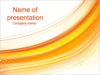 Abstract Orange Lines PowerPoint Template