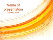 Abstrakt orange linjer PowerPoint presentationsmallar