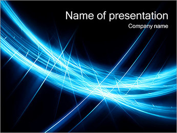 Abstract Dark Blue PowerPoint Template