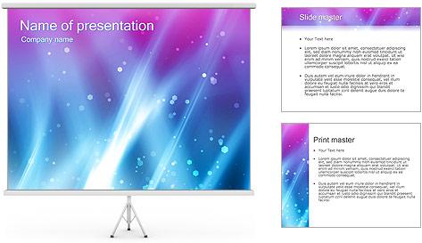 Couleur de la lumière Abstraction Modèles des présentations  PowerPoint