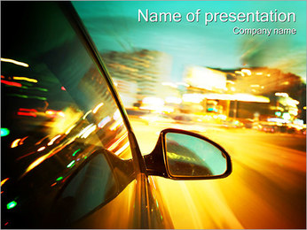 City Drive PowerPoint Template