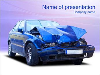 Accident de voiture Modèles des présentations  PowerPoint - Diapositives 1