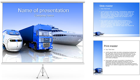 Ways Of Goods Transportation PowerPoint Template
