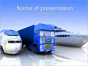 Ways Of Goods Transportation PowerPoint Template