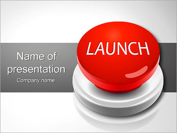 Launch Button PowerPoint Template