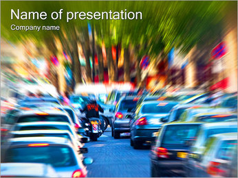 Traffic Jam PowerPoint Template