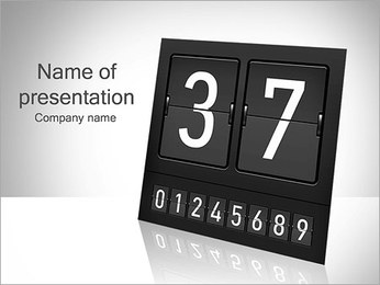 Counting Sign PowerPoint Template