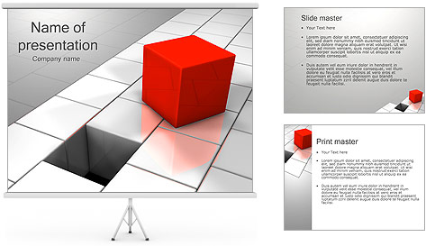 Red Square PowerPoint Template