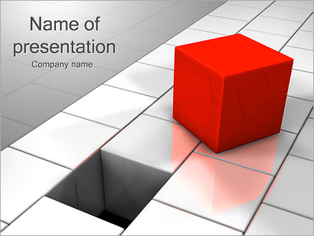 Red Square PowerPoint Templates