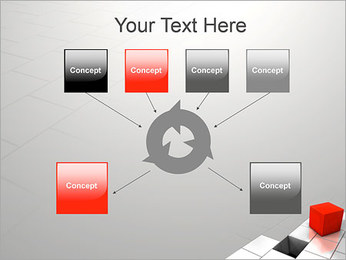 Red Square PowerPoint Template - Slide 10