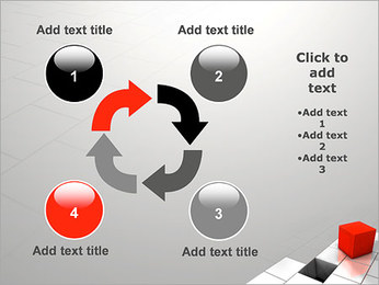 Red Square PowerPoint Template - Slide 14