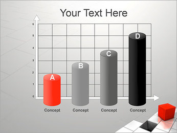 Red Square PowerPoint Template - Slide 21