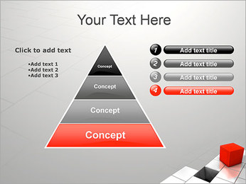 Red Square PowerPoint Template - Slide 22