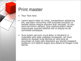 Red Square PowerPoint Template - Slide 24