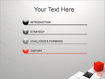 Red Square PowerPoint Template - Slide 3