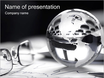 Silver Sphere PowerPoint Template