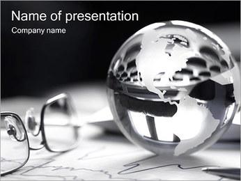 Argent Sphère Modèles des présentations  PowerPoint