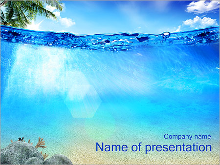 Ocean Water Powerpoint Template & Backgrounds Id 0000002607
