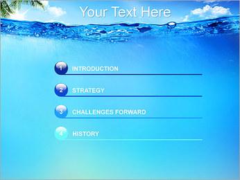 Ocean Water PowerPoint Template - Slide 3