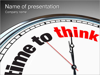 Time To Think PowerPoint Template - Slide 1