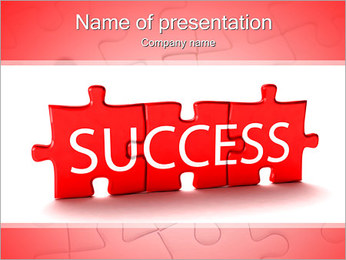 Success Puzzle PowerPoint Template