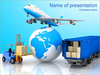 Transporting Goods PowerPoint Template